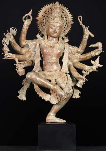 1-Dancing Shiva statue
